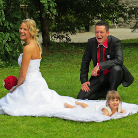 marriage by Renato Dibelčar - Wedding Bride & Groom ( tochter, married, slovenia, daughter, mozirje, marriage, bride, people, groom )