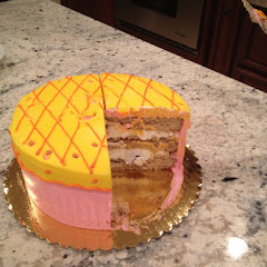 Lemon cake with vanilla frosting