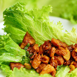 Chicken Cashew Lettuce Wraps