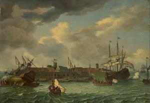 RIJKS: manner of Abraham Storck: painting 1699