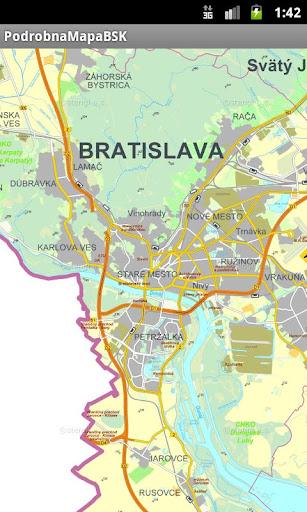 Bratislava detailed map