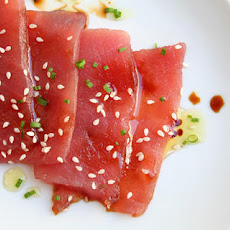 Sashimi with Soy Sauce, Sesame Seeds, and Chives Recipe