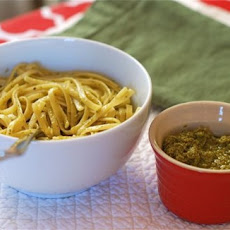 Linguine with Spinach Gremola
