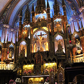 Basilica of Montreal  by Thakkar Mj - Buildings & Architecture Places of Worship ( montreal, church, light effect, lord jesus, besilica, basilica of montreal, places of worship,  )