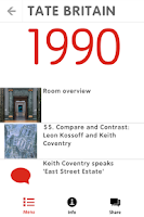Screenshot of Tate Britain Mobile Guide