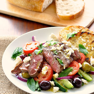 Quick Fix Greek Lamb and Salad Dinner