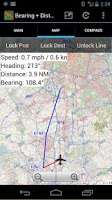 Screenshot of Bearing+Distance S.EU