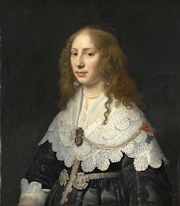 RIJKS: Michiel Jansz. van Mierevelt: Portrait of Aegje Hasselaer, Wife of Henrick Hooft 1640