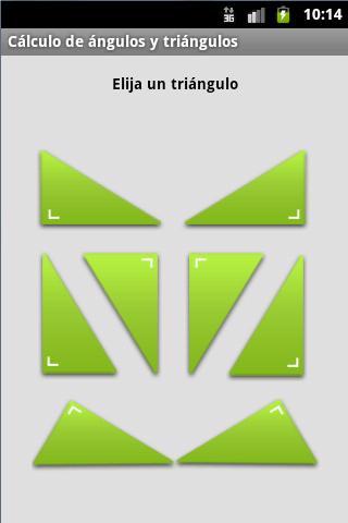 Cálculo de ángulos y triángulo