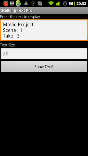 Stalking Text Pro