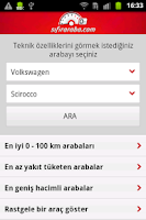 Screenshot of Araba Teknik Özellikleri