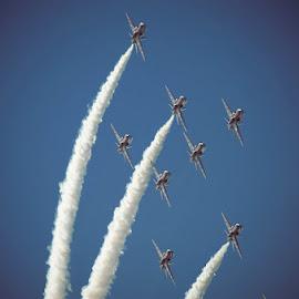 Red Arrows by Fitria Ramli - Transportation Airplanes ( red arrows, airplanes, show, transportation, nikon, air show,  )