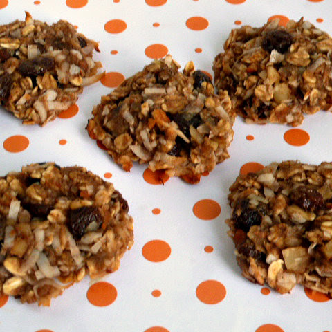 Gluten Free Oatmeal Peanut Butter Cookies with Raisins