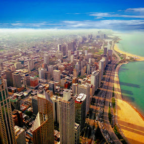 Chicago North Shore by T Sco - City,  Street & Park  Skylines ( skyline, sky, cityscape, chicago, city,  )