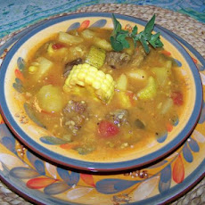 Carbonada Criolla - Argentina Meat, Veg, Fruit Stew