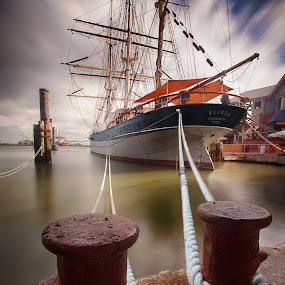 Elissa by Jim Hamel - Transportation Boats ( ship, texas, elissa, galveston, boat )