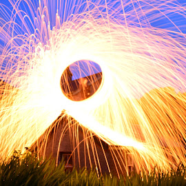 by Nick Gray - Abstract Light Painting ( light painting fire wheel )