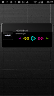 Poweramp Widget NEW NEON - screenshot