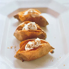 Baked Sweet Potatoes With Sour Cream and Brown Sugar