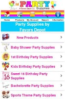 Screenshot of Party Supplies Shop