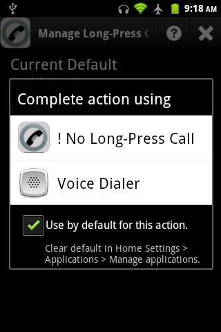 No Long-Press Call