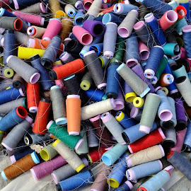 Piling Threads by Rüstem Baç - Artistic Objects Clothing & Accessories ( colorful, markets, threads, colors, tailoring )
