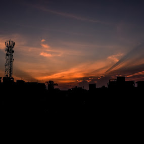 The Silver Lining by Souvik Kundu - Landscapes Sunsets & Sunrises