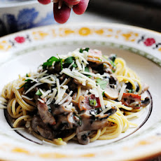 Pasta with Bacon and Mushrooms