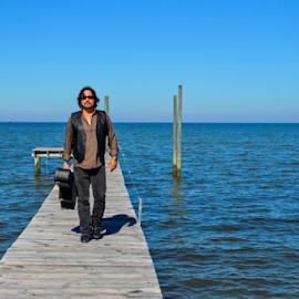 walking the pier by Diane Davis - People Musicians & Entertainers ( music, marty mcintosh, model, actor, entertainer )