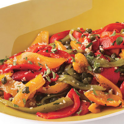 Roasted Mixed Peppers with Capers and Marjoram