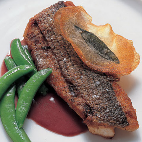 Striped Bass with Sage and Red-Wine Butter