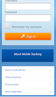 Screenshot of Sallie Mae Mobile Banking