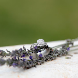 Diamonds in lavender fields by Louise Lacante - Wedding Details ( object, artistic, jewelry )