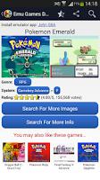 Screenshot of Emulator Games Database