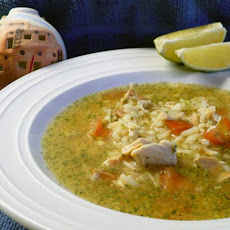 Mexican Chicken Rice Soup (Caldo Cantina)