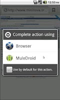 Screenshot of MuleDroid