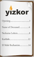Screenshot of Yizkor