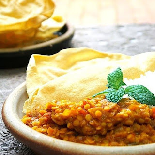 Red Lentil Dahl for a Rainy Day