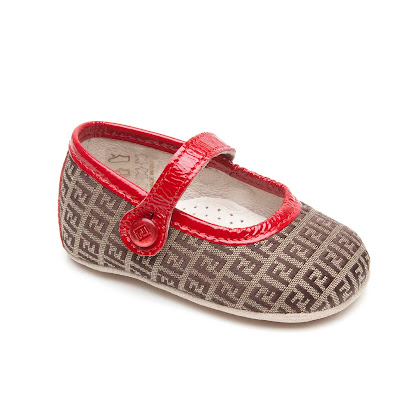Fendi Red Trim Pram Shoe PRAM