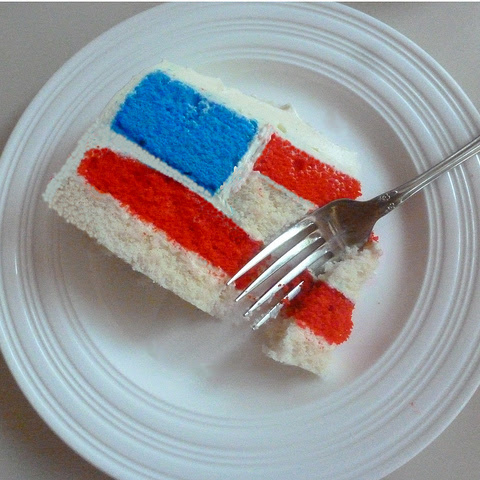 Fourth of July Cake (aka Team USA Cake)