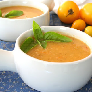 Roasted Golden Tomato Soup – Low Carb and Gluten-Free