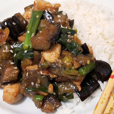Sesame Chicken and Eggplant