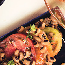 Heirloom Tomatoes with Shell Beans Vinaigrette