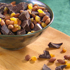 Dark Chocolate with Golden Raisins and Toasted Almonds