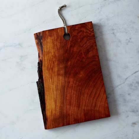 Live-Edge Reclaimed Wood Serving & Cutting Board