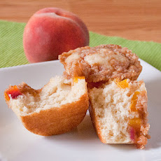 Mini Peach Streusel Coffeecakes