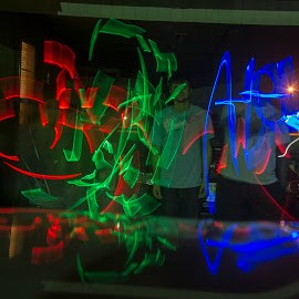 Okie Light by Cory Byers - Abstract Light Painting ( home, friends, oklahoma, family, art, light graffiti, drawing )
