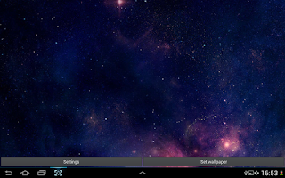 Screenshot of Space Stars Live Wallpaper