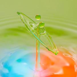 Impact by Manoj Kumar Kd - Abstract Water Drops & Splashes ( drop, drops, water droplets, droplets, water drop )