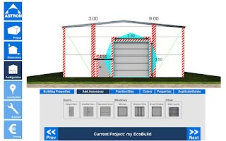 Screenshot of EcoBuild Building Configurator